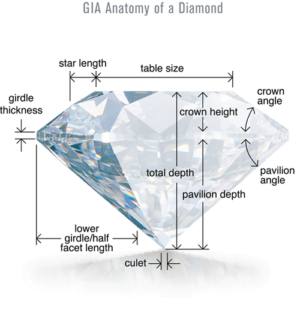 Cut Anatomy of Diamond